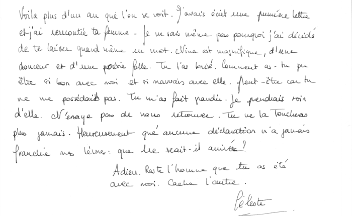 La Lettre (2), Juin 2016 –Miguel